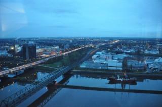 Blick aus dem 21. Stock des Weser-Towers